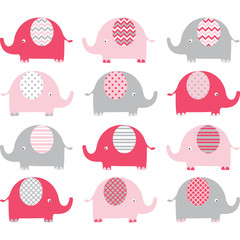 Pink Cute Elephant Collections