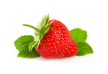 Ripe fresh strawberries.