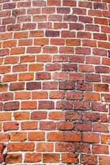 Spoed Foto op Canvas Baksteen muur Vintage brick wall. Daylight. close up