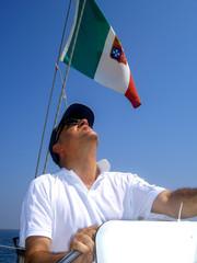 Timoniere Barca a Vela