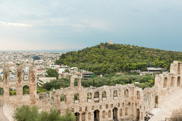 Philopappos Hill and Odeon of Herodes Atticus theater, Greece