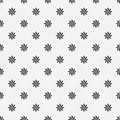 Black and White Eight Pointed Pinwheel Star Symbol Tile Pattern