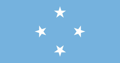 The flag of the Federated States of Micronesia