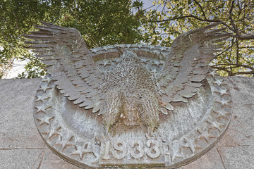 Franklin D Roosvelt Memorial, Relief of the Presidential Seal