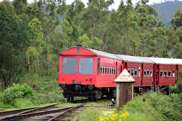 Passenger train in Sri Lanka,