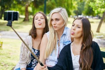 girls selfie stick phone
