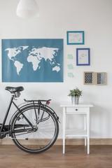 Bike in modern stylish room