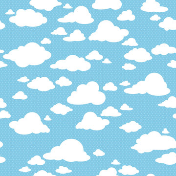 seamless pattern with clouds