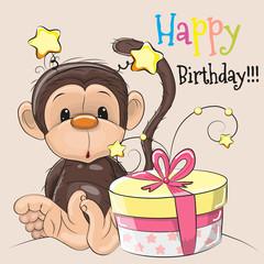 Monkey with gift