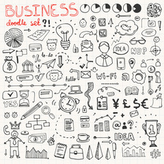 Business Doodle Element Set