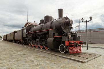 паровоз экспонат исторического музея, Екатеринбург, Россия,