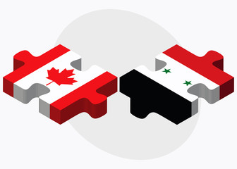 Canada and Syria Flags