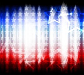 American flag, abstract background of the