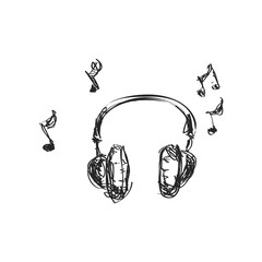 Simple doodle of a set of headphones