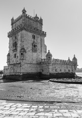 Lisbon at black and white