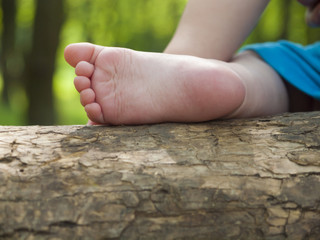 The foot of a small child.
