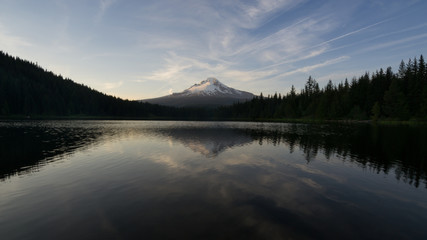 Sunrise on Mt Hood at Trillium Lake, Oregon
