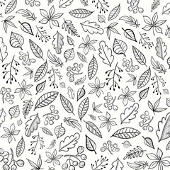 Vector background with decorative leaves.