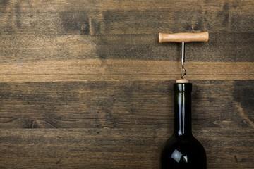 Wine, cork, wood.