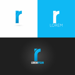 letter R logo design icon set background