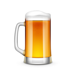 Beer Glass Vector Illustration Isolated
