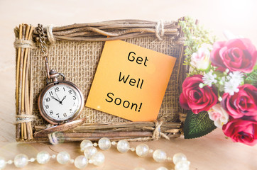 Get Well Soon greeting card.