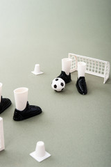 サッカーのミニチュア