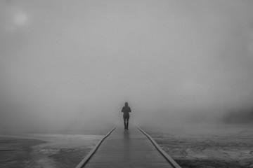A walk through fog.