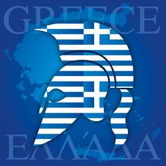 greek ancient helmet symbol