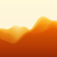 Mountain Landscape. Vector Silhouettes Of Mountains Backgrounds.