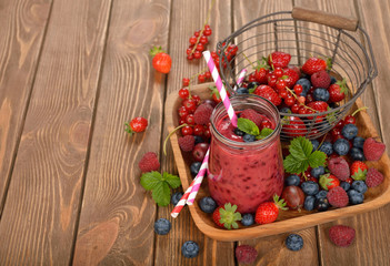 Dietary berry smoothies