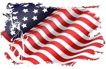 USA flag in the EEUU maps