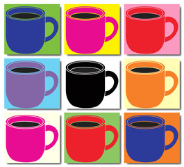 Tasse de café pop art