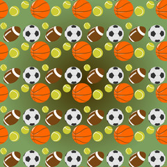 sports seamless pattern