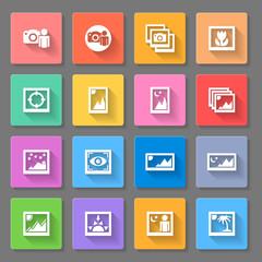 Colorful Media Photo Icons