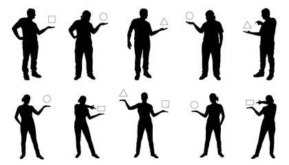 people showing silhouettes