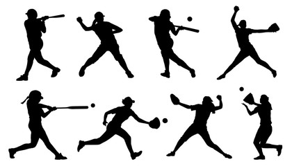softball silhouettes
