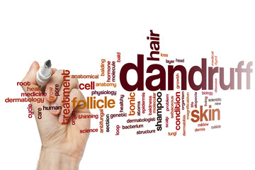 Dandruff word cloud