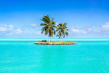 Foto op Canvas Eiland Urlaub auf einer einsamen Insel in der Südsee