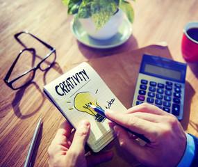 Businessman Notepad Creativity Ideas Concept