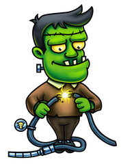 Frankenstein Cartoon Character Digital Painting