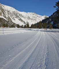 Cross country skiing itinerary