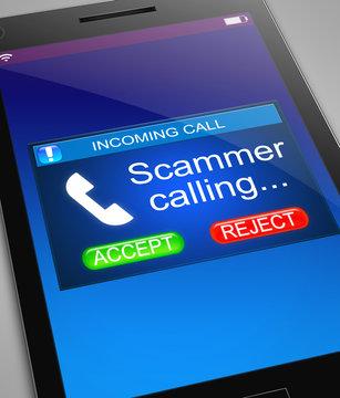 Scam caller concept.