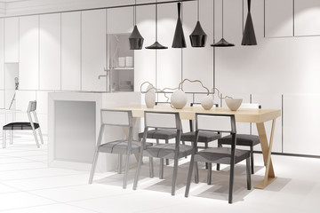 Innenarchitektur modern skizzen  Bilder und Videos suchen: wohnküche