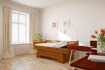 Leeres Zimmer in einem Altenheim