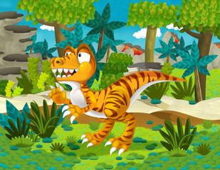 Cartoon raptor - illustration for the children