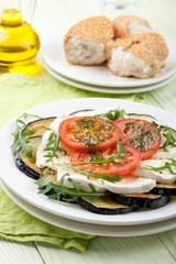 Eggplant with mozzarella