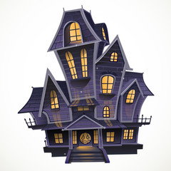 Happy Halloween cozy haunted house