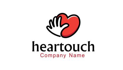 Heartouch Logo template