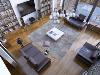 Design of contemporary living room